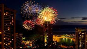 Silvester Feuerwerk am Hilton Hawaiian Village