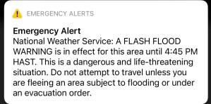 Sturzflut in Hawaii Warnung