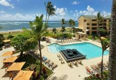 premium ocean view Courtyard by Marriot Kauai at Coconut Beach