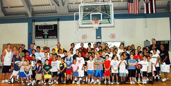 Students at the Hawaii Island Hoops camp 2008. (Photo courtesy of Hawaii Island Hoops)