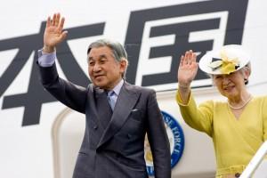 Emperor Akihito and Empress Michiko of Japan bid aloha to the Big Island at Kona International Airport.