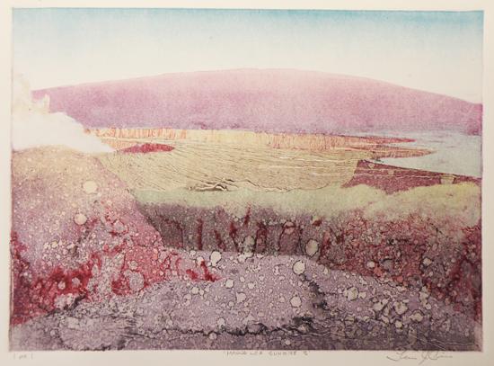 T. Cisco - Mauna Loa Sunrise III (Photo courtesy Donkey Mill Art Center)