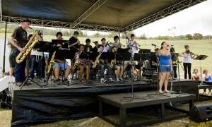The Honokaa Jazz Band performs at the 2010 Peace Day Parade & Festival in Honokaa