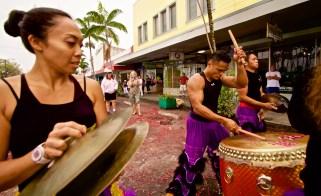 Members of Big Island Shaolin Arts perform in downtown Hilo's Chinese New Year celebration Saturday, February 21, 2015. Photography by Baron Sekiya   Hawaii 24/7