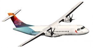 Island Air ATR 72 twin-engine turboprop plane.