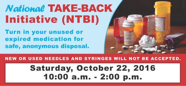 National Take-Back Initiative poster