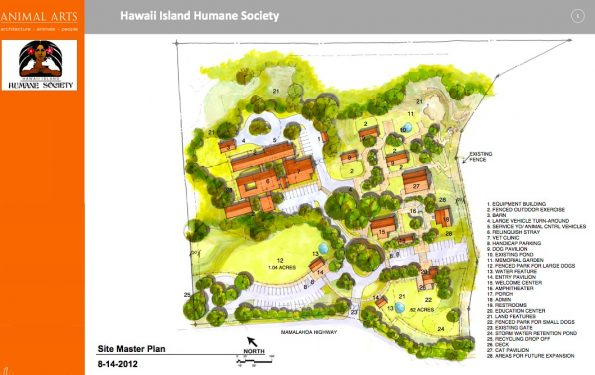 Master plan for future complete Animal Community Center of Hawaii Island Humane Society.