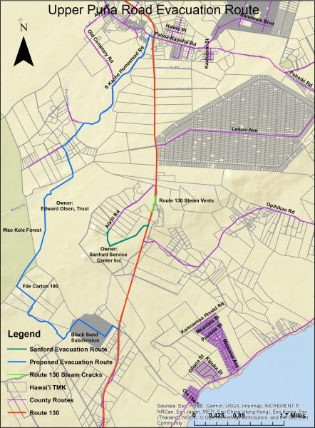 Upper Puna Road Evacuation Route