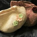 とても丈夫!たこ糸で編む桜とバラのマルシェバック💖