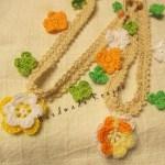 鎖と細編みでできる!タンポポとマーガレットのチョーカー🌸
