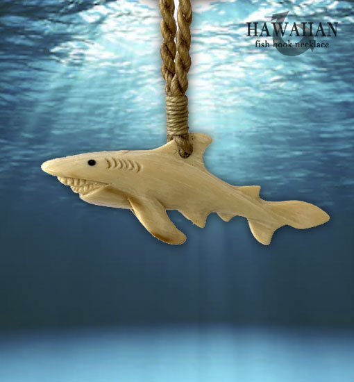 shark carved necklaces