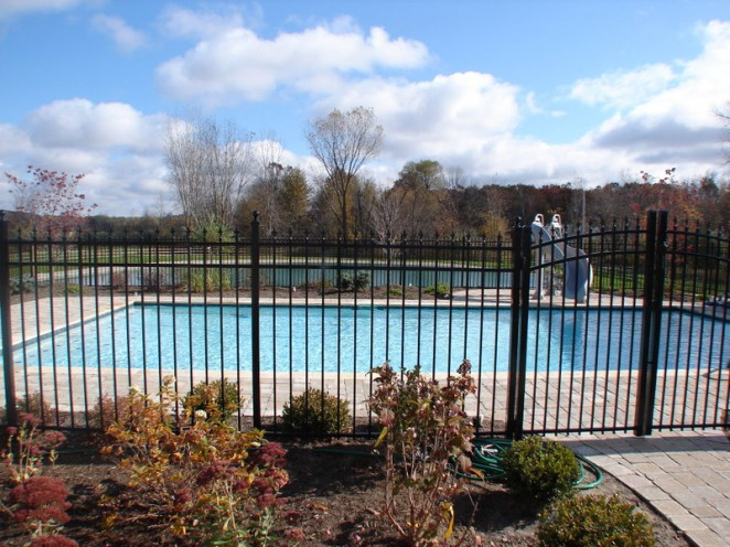 Residential - Pool within Black Fence