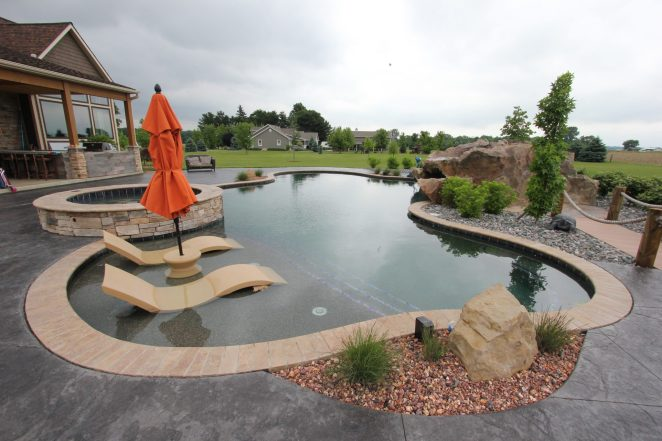 Pool Spa Rock Feature