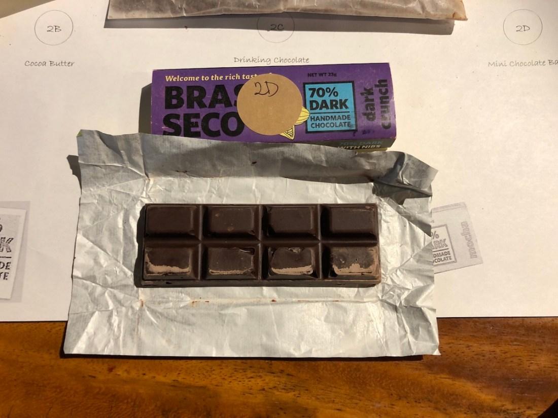 Chocolate bar, chocolate tasting kit, Brasso Seco