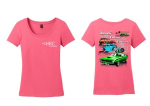 HCC Logo Ladies Scoop T - Pink