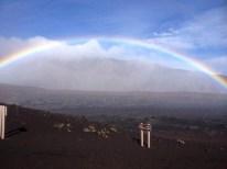"Rainbows mean ""It's raining."""