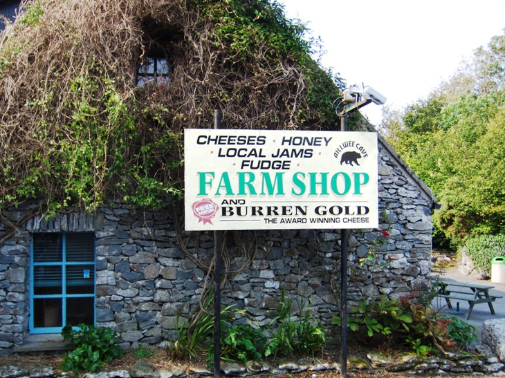 Cheese shop and the Aillwee Cave