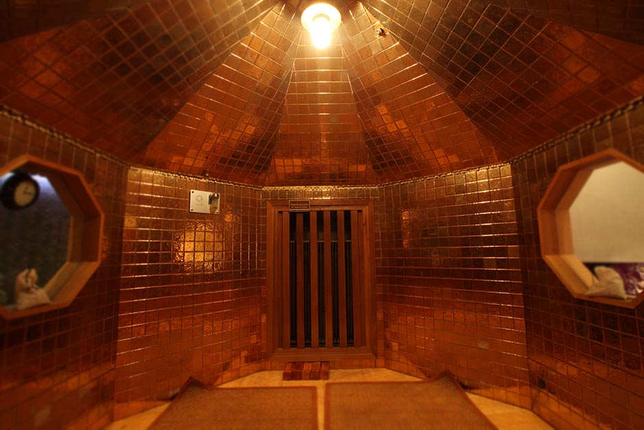 Gold Sauna at Spa Castle