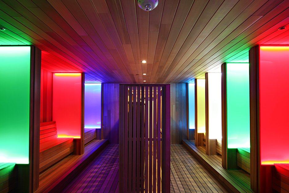 Infrared Sauna at Spa Castle