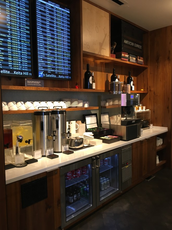 The Centurion Lounge accessed with the American Express Platinum Card