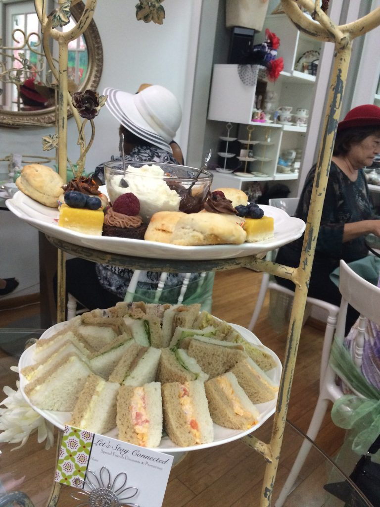 Pastries and Sandwiches at Tea at 1024