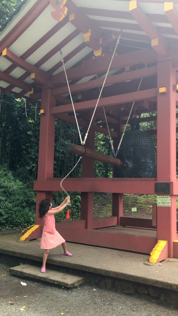 Ringing the Sacred Bell at the Byodo-In Temple
