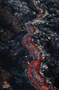 Here's one of the rivers of lava cascading its way down Pulama Pali. So amazing to witness!