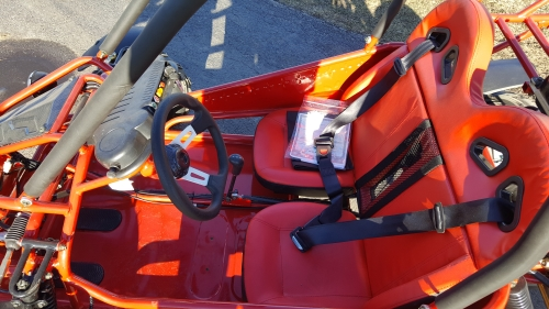 Coolster GK-6125 GoKart Automatic 125cc 2-Seater Front Seats