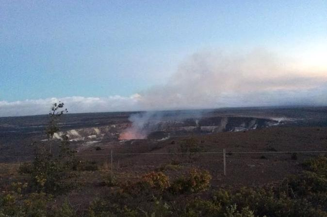 Full-Day Waterfall and Twilight Red Lava Glow Viewing Tour from Kona on Hawaii