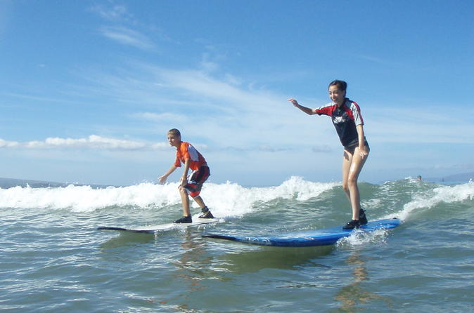 Group Surf Lesson: Two Hours of Beginners Instruction on Maui