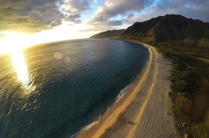 Helicopter Tour on Oahu: North Shore Sunset Spectacular on Oahu