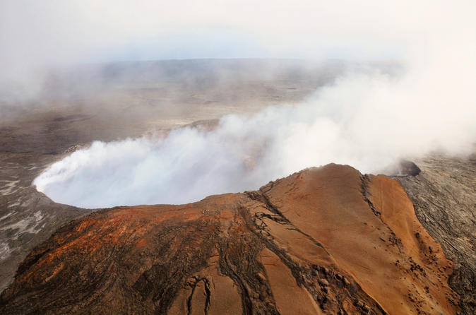 Volcano by Air and Land: Helicopter, Coach, and Walking Tour on Hawaii