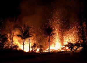 Volcano activities on the Island of Hawaii