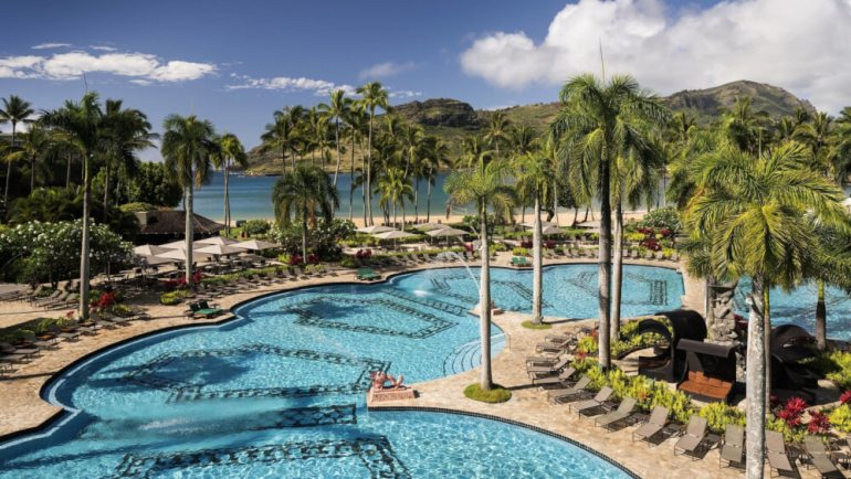 The Best Kauai Beaches for families featured by top US travel blog, Hawaii Travel with Kids: The Royal Sonesta Kauai Resort is one of the best Kauai hotels on the East Side