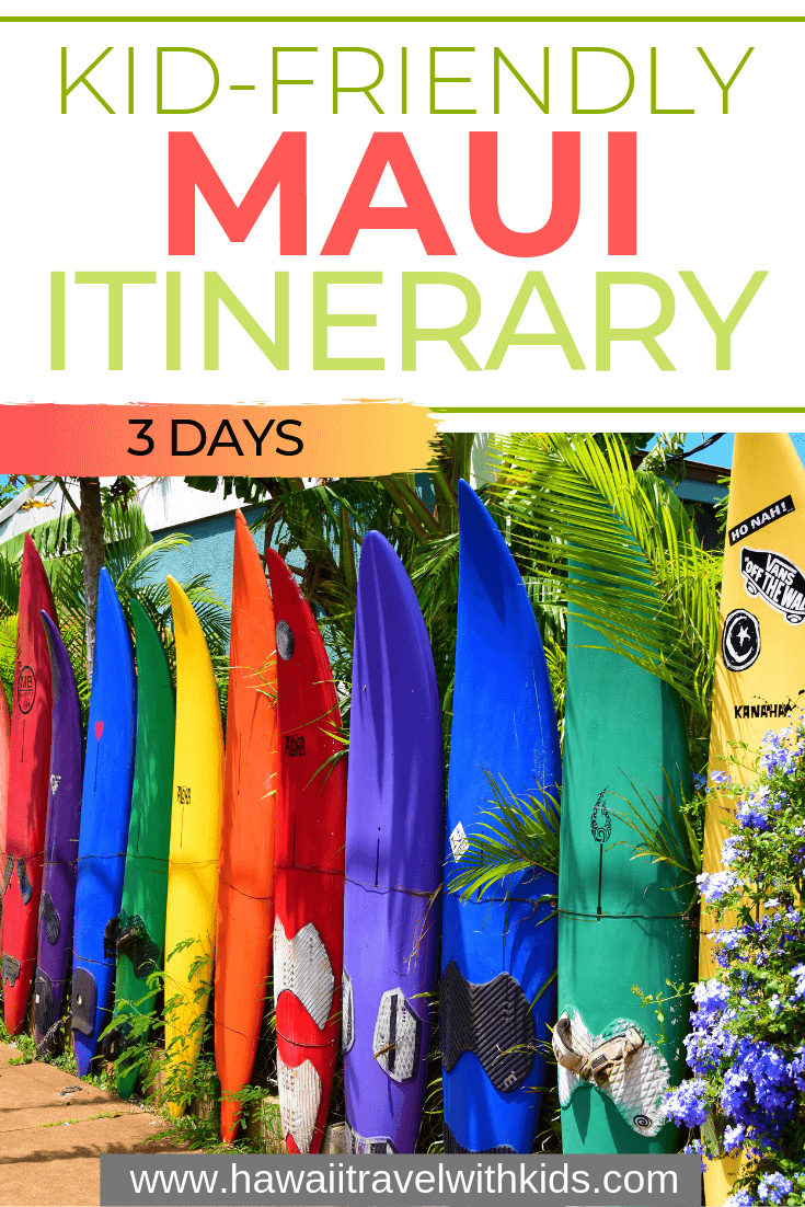 3 Day Maui Itinerary with Kids featured by top Hawaii travel blog, Hawaii Travel with Kids: Are you looking for the perfect 3 day Maui itinerary with kids? If you only have a short amount of time on Maui, you have to make the most of it! This 3 day Maui itinerary will help you plan the perfect trip to Maui for your next family vacation. #maui #hawaii
