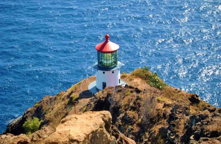 Top 6 Free Things to Do on Oahu featured by top Hawaii blog, Hawaii Travel with Kids: Mokapuu Lighthouse Trail is a kid-friendly Oahu hike.