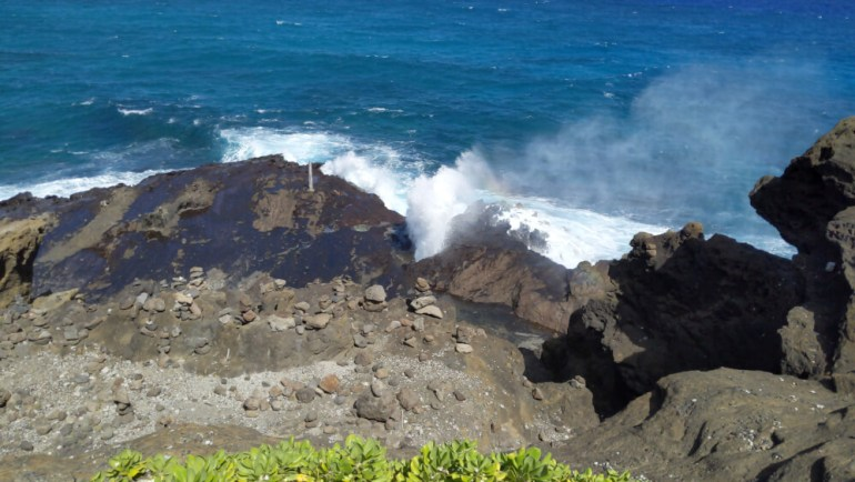 4 Days in Oahu: a Complete Travel Guide for your Next Family Vacation on a Budget, featured by top Hawaii travel blog, Hawaii Travel with Kids: Halona Blowhole on Oahu