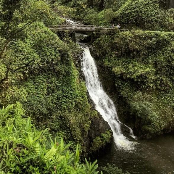 Best Waterfalls in Maui You Should Visit featured by top Hawaii travel blog, Hawaii Travel with Kids: Kopihula Falls, Road to Hana, Maui--Kopihula Falls is one of the best Maui waterfalls to see on the Road to Hana