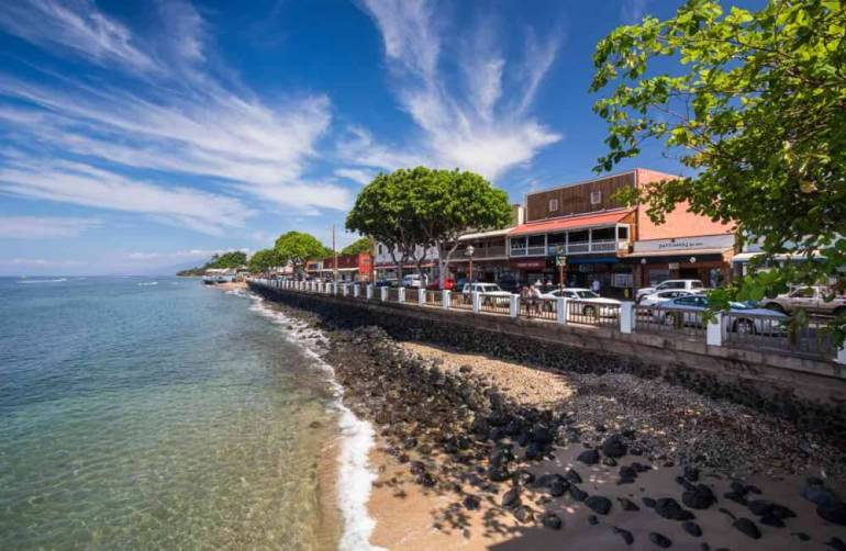 Things to do in Lahaina Maui featured by top Hawaii blog, Hawaii Travel with Kids: One of the many things to do in Lahaina, Maui is explore historic Front Street