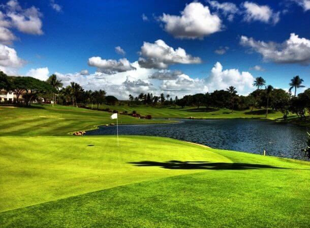 the Best Oahu Golf Courses featured by top Hawaii blog, Hawaii Travel with Kids: image of Koolina Golf Course on Oahu