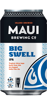 The Best Hawaiian Beer to Enjoy on Maui featured by top Hawaii blog, Hawaii Travel with Kids: Big Swell IPA beer from Maui Brewing Co.