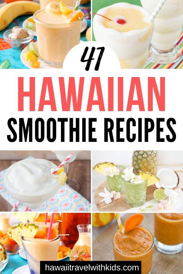 Hawaiian Tropical Smoothie Recipes to Make at Home featured by top Hawaii blog, Hawaii Travel with Kids.