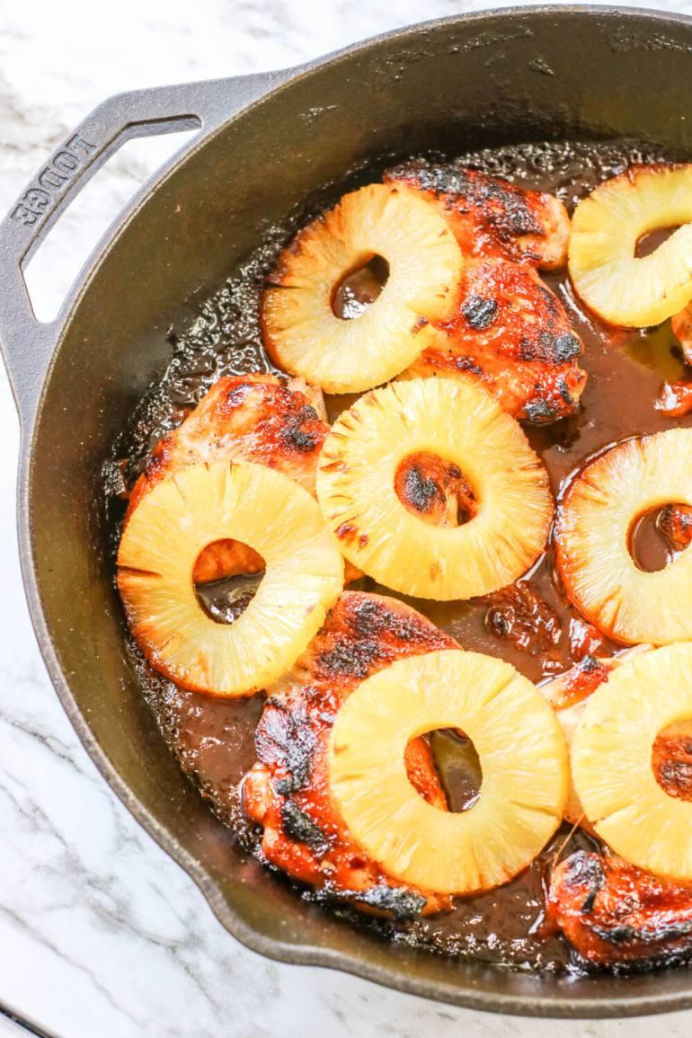 Hawaiian Skillet Barbecue Pineapple Chicken by Top Hawaii Blog Hawaii Travel with Kids