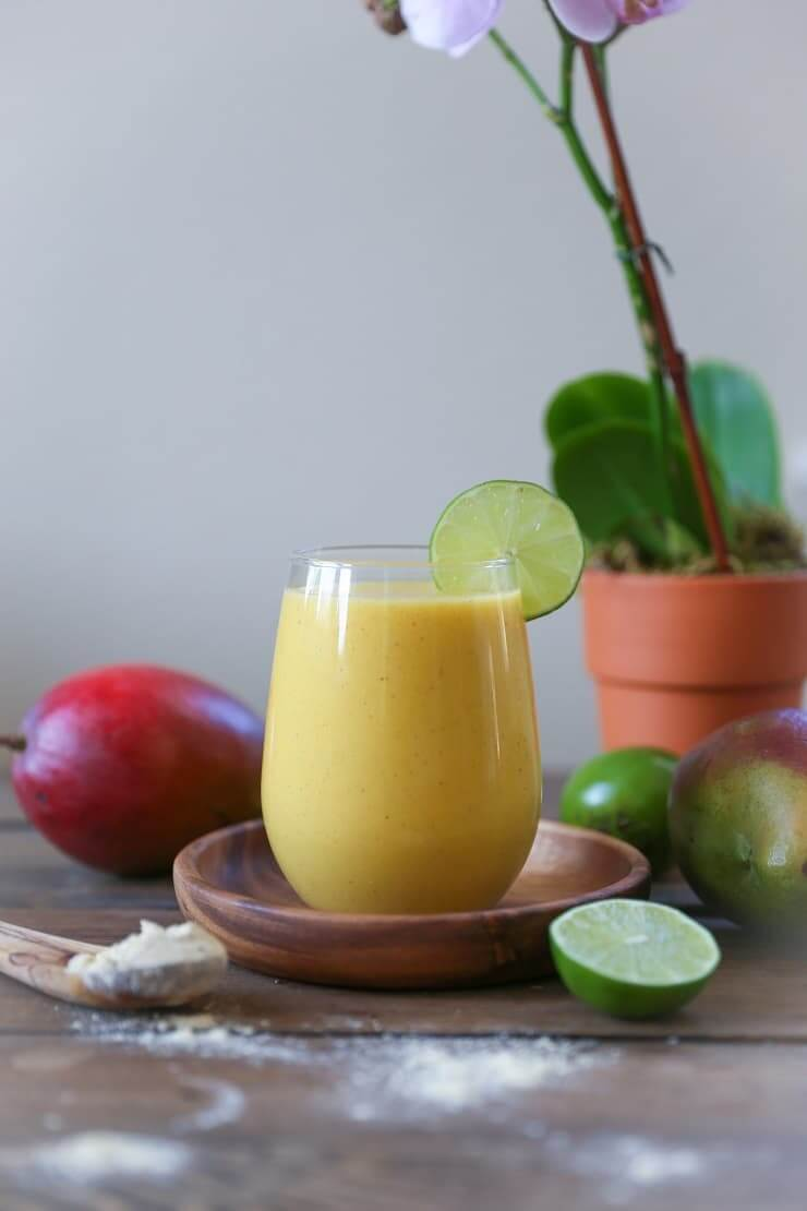 IHawaiian Tropical Smoothie Recipes to Make at Home featured by top Hawaii blog, Hawaii Travel with Kids: mmunity Boosting Tropical Smoothie - packed with vitamins, antioxidants, and protein for a healthful breakfast! #vegan #paleo