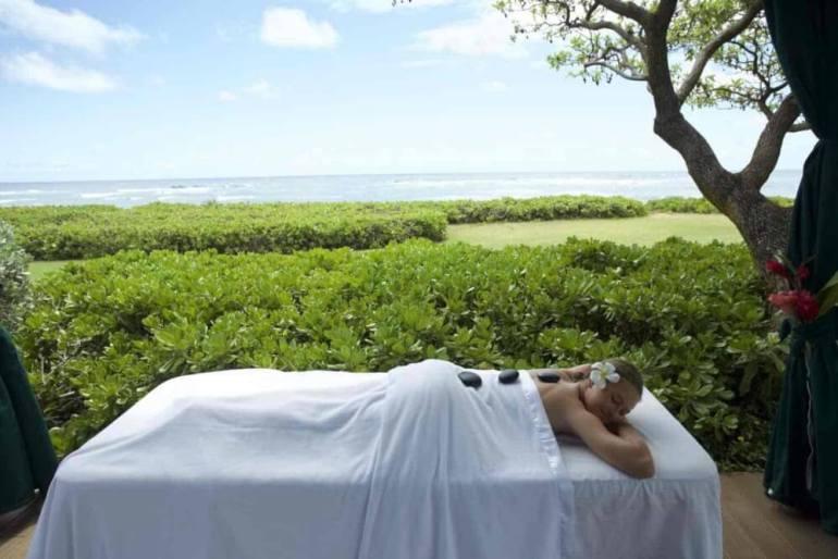 Kauai Beach Resort massage | beachside massage kauai