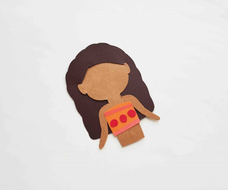 Moana Paper Doll Disney Craft from Hawaii Travel with Kids