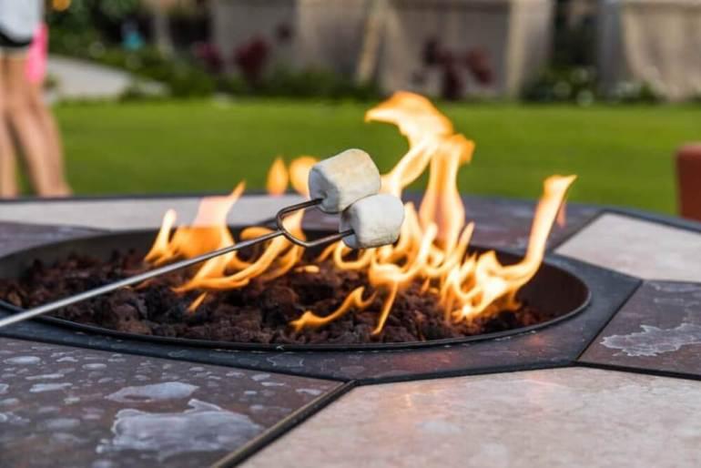Roasting Marshmallows at Koloa Landing Resort