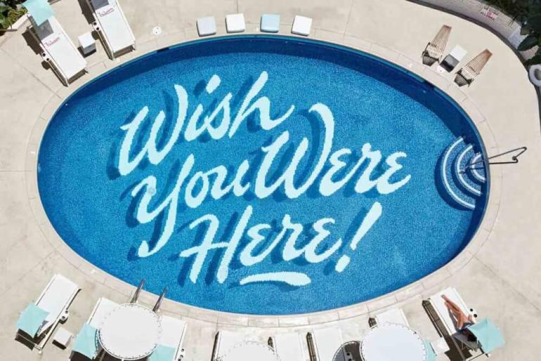 Top 8 Romantic Oahu Honeymoon Resorts featured by top Hawaii blog, Hawaii Travel with Kids: Surfjack Hotel on Oahu