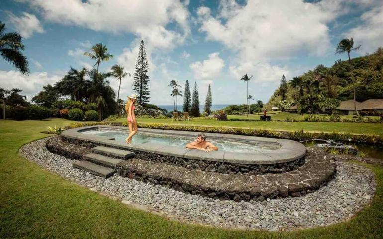 Top 5 Best Maui Boutique Hotels featured by top Hawaii blog, Hawaii Travel with Kids: Travaasa Hana is a gorgeous, all inclusive Hawaii resort and the best place to stay in Maui for couples