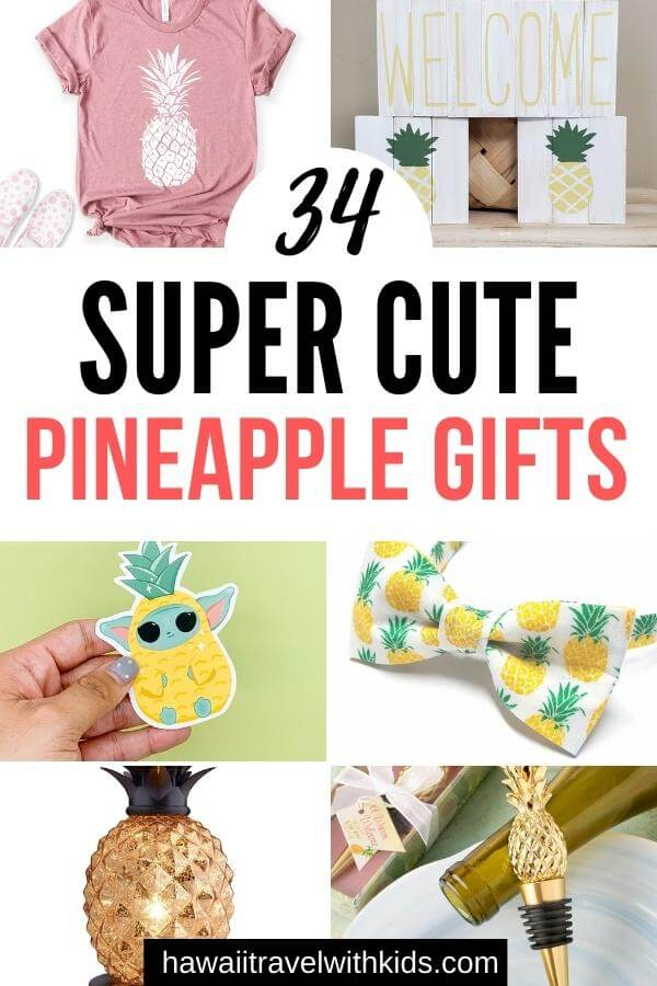 Cute Pineapple Gifts from Etsy featured by top Hawaii blog, Hawaii Travel with Kids
